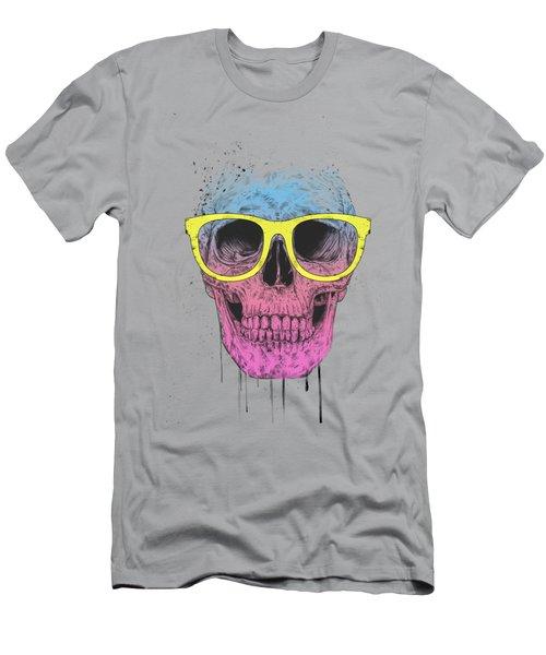 Pop Art Skull With Glasses Men's T-Shirt (Athletic Fit)
