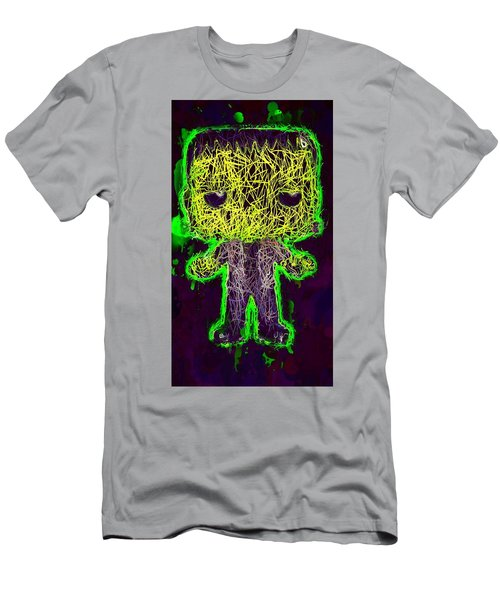Men's T-Shirt (Athletic Fit) featuring the mixed media Frankenstein Pop 2 by Al Matra