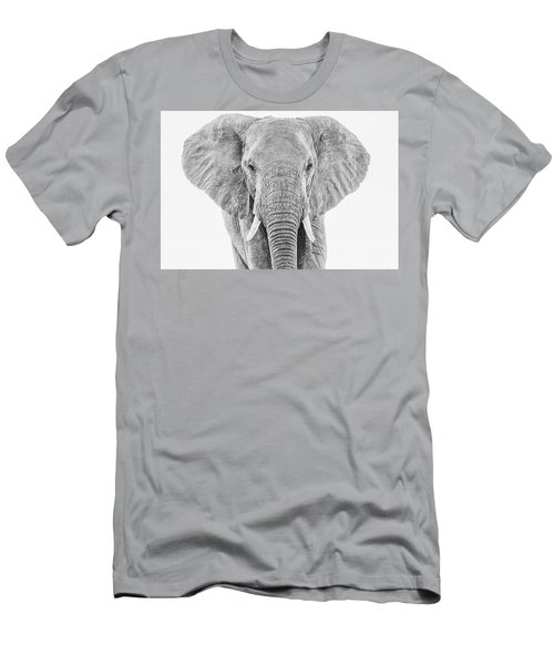Portrait Of An African Elephant Bull In Monochrome Men's T-Shirt (Athletic Fit)