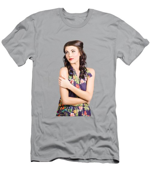 Portrait Of Beautiful Female Fashion Model Men's T-Shirt (Athletic Fit)