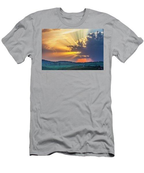 Powerful Sunbeams Men's T-Shirt (Athletic Fit)