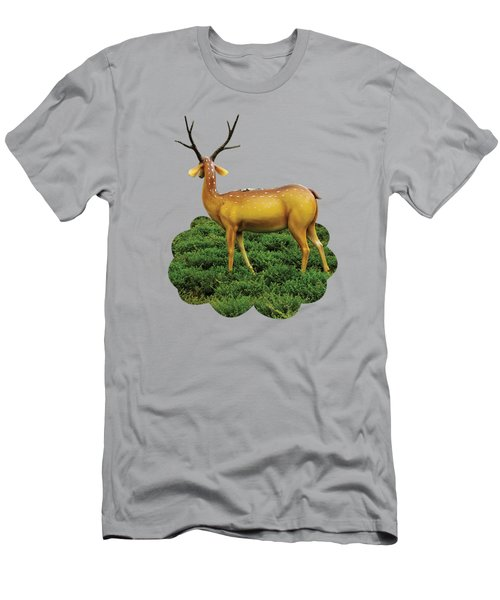 Pretty Deers Playing In The Forest. Men's T-Shirt (Athletic Fit)