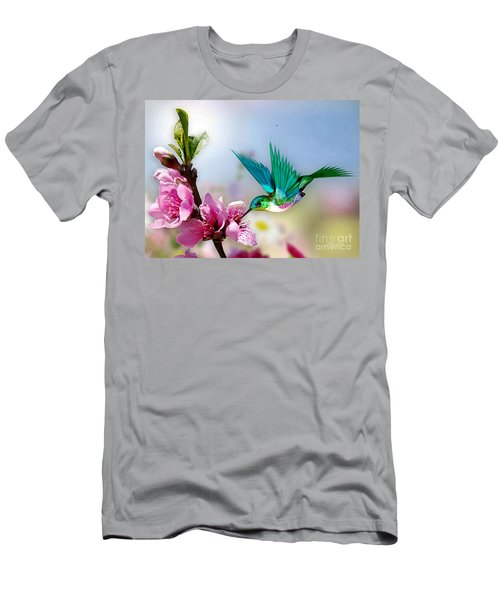 Pretty Hummingbird Men's T-Shirt (Athletic Fit)