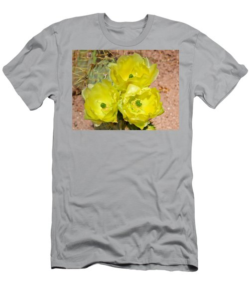 Prickly Pear Cactus Trio Bloom Men's T-Shirt (Athletic Fit)