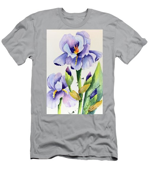 Purple Iris And Buds Men's T-Shirt (Athletic Fit)