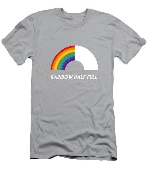 Rainbow Half Full- Art By Linda Woods Men's T-Shirt (Athletic Fit)