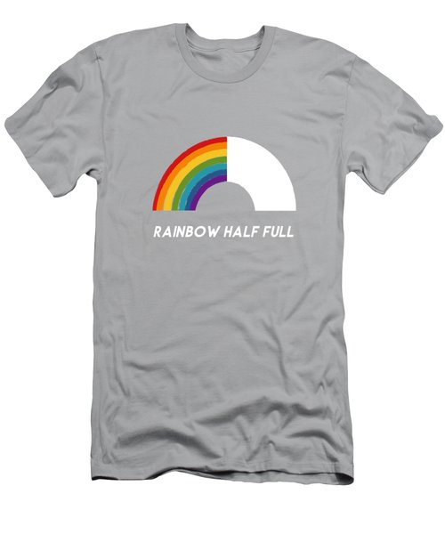 Rainbow Half Full- Art By Linda Woods Men's T-Shirt (Athletic Fit)