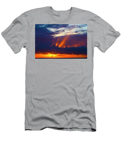 Rays Of Sunlight At Sunset Men's T-Shirt (Athletic Fit)