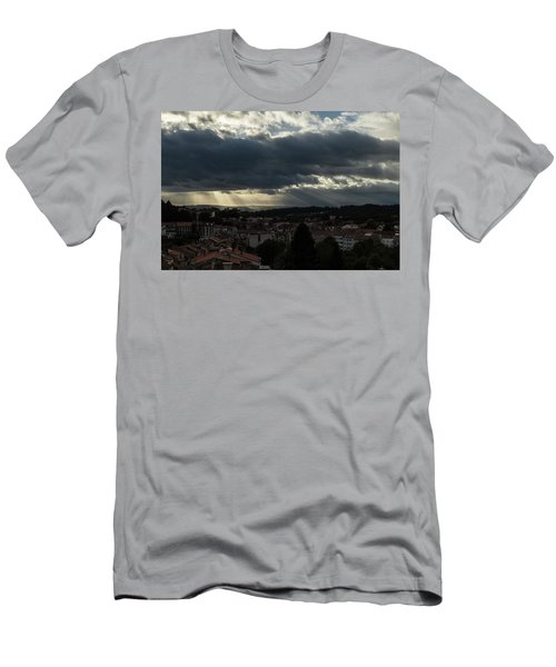 Men's T-Shirt (Athletic Fit) featuring the photograph Rays Over Santiago by Alex Lapidus