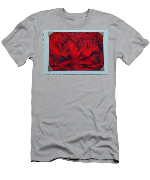 Red And Black Encaustic Abstract Men's T-Shirt (Athletic Fit)