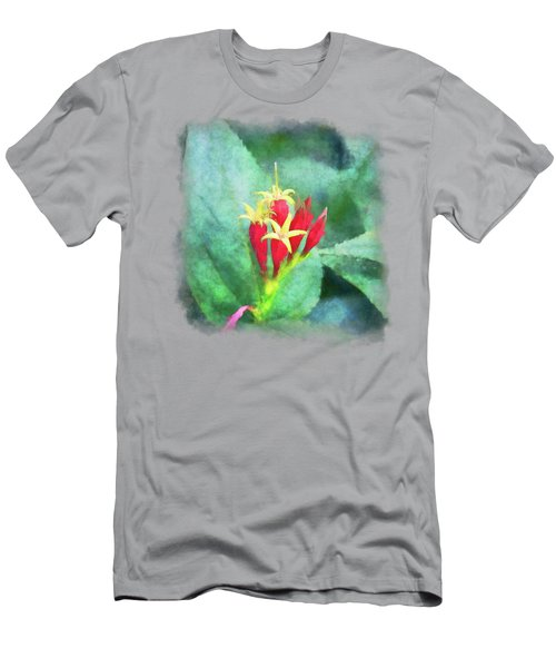 Red And Yellow Flowers Men's T-Shirt (Athletic Fit)
