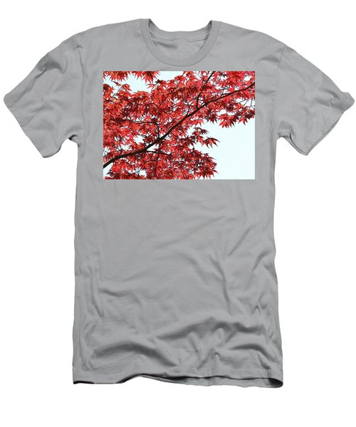 Red Japanese Maple Leaves Men's T-Shirt (Athletic Fit)