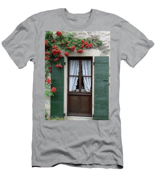 Red Rose Door Men's T-Shirt (Athletic Fit)