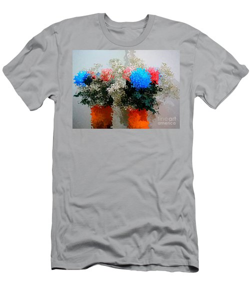 Reflection Of Flowers In The Mirror In Van Gogh Style Men's T-Shirt (Athletic Fit)