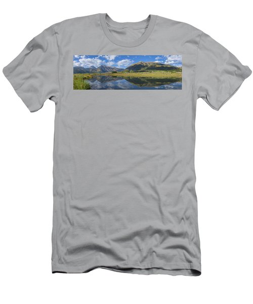 Reflections Of The Sawatch Range In The Autumn Men's T-Shirt (Athletic Fit)