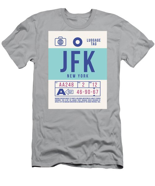 Retro Airline Luggage Tag 2.0 - Jfk New York United States Men's T-Shirt (Athletic Fit)