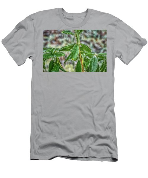 Men's T-Shirt (Athletic Fit) featuring the photograph Rhodo On The Rocks by Meta Gatschenberger