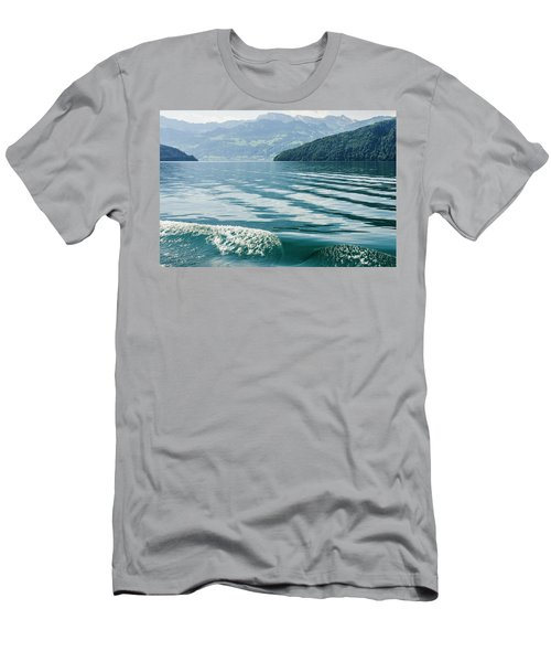 Ripples On Lake Lucerne Men's T-Shirt (Athletic Fit)