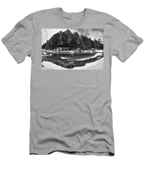 Men's T-Shirt (Athletic Fit) featuring the photograph River Bend, Rocky Gorge 2 N H by Michael Hubley