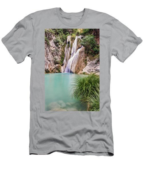 River Neda Waterfalls Men's T-Shirt (Athletic Fit)