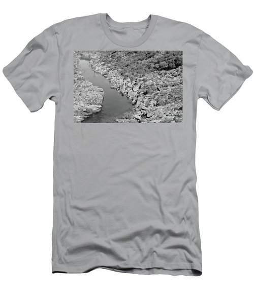 River On The Rocks. Bw Version Men's T-Shirt (Athletic Fit)