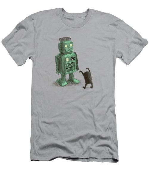 Robot Vs Alien Men's T-Shirt (Athletic Fit)