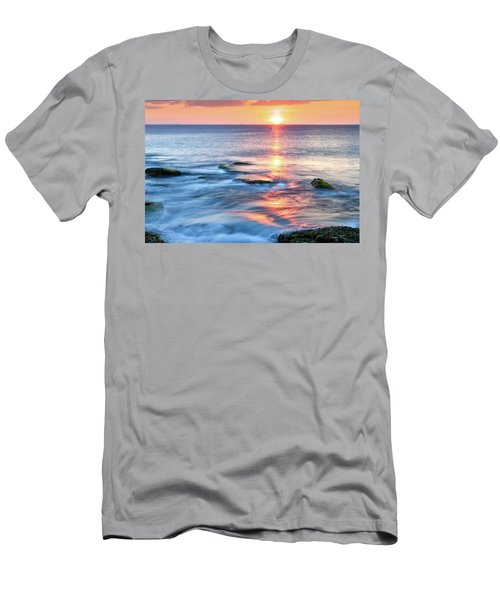 Men's T-Shirt (Athletic Fit) featuring the photograph Rockport Pastel Sunset Ma. by Michael Hubley
