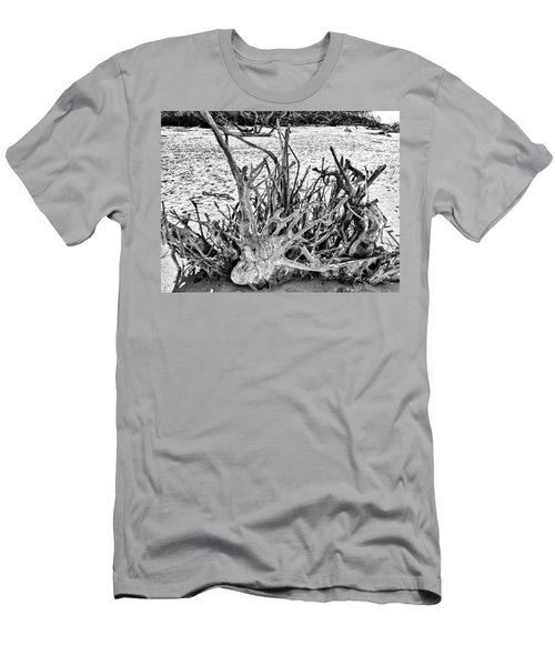 Rooted In Black And White Men's T-Shirt (Athletic Fit)
