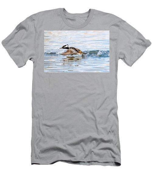 Running Take Off -- Hooded Merganser Men's T-Shirt (Athletic Fit)