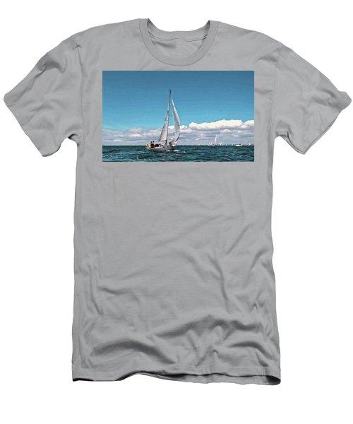 Sailing Regatta On A Brisk Summer's Day Men's T-Shirt (Athletic Fit)