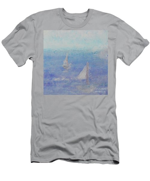 Men's T-Shirt (Athletic Fit) featuring the painting Sailing Subtly by Kim Nelson