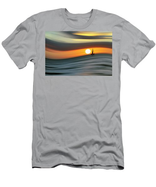 Sailing To The Sunset Men's T-Shirt (Athletic Fit)