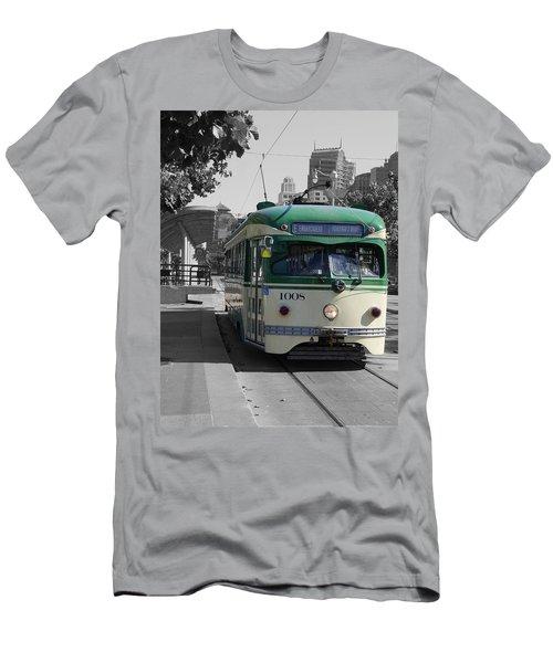 San Francisco - The E Line Car 1008 Men's T-Shirt (Athletic Fit)