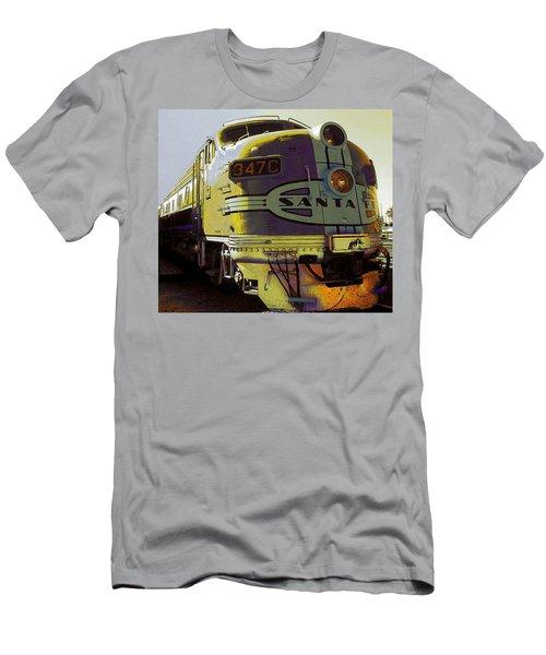 Santa Fe Railroad 347c - Digital Artwork Men's T-Shirt (Athletic Fit)