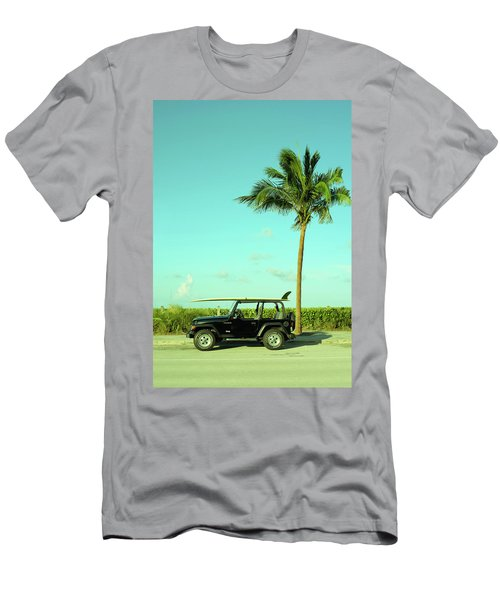 Saturday Surfer Jeep Men's T-Shirt (Athletic Fit)