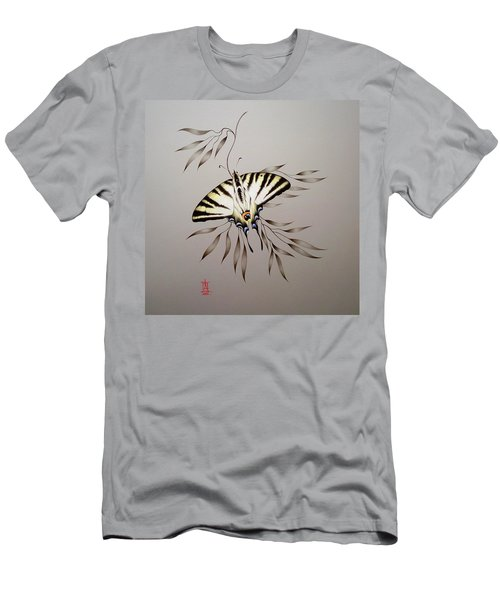 Scarce Swallowtail On Bamboo Men's T-Shirt (Athletic Fit)