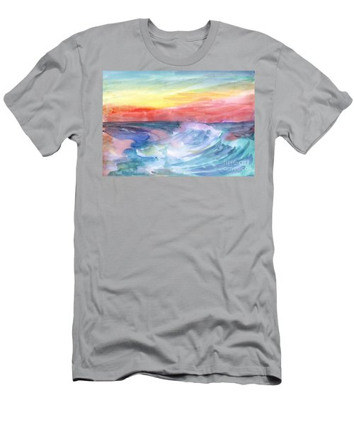 Sea Wave Men's T-Shirt (Athletic Fit)