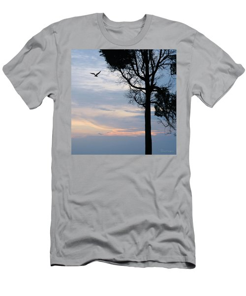 Seagull Sunset At Catawba Men's T-Shirt (Athletic Fit)