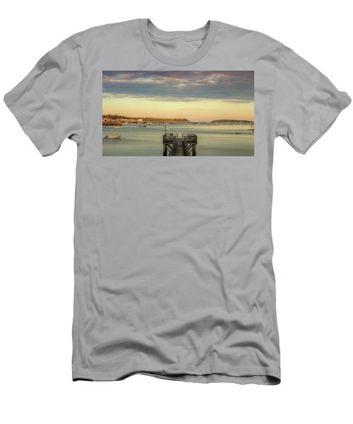 Men's T-Shirt (Athletic Fit) featuring the photograph Seal Harbor At Low Tide by Dan Sproul