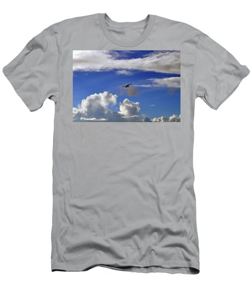 Seaplane Skyline Men's T-Shirt (Athletic Fit)