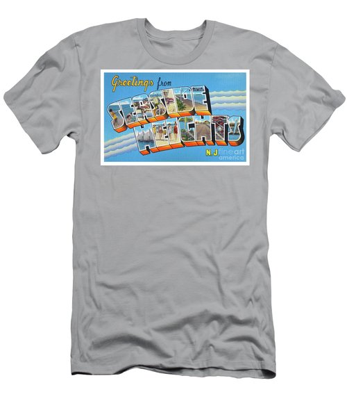 Men's T-Shirt (Athletic Fit) featuring the photograph Seaside Heights Greetings by Mark Miller