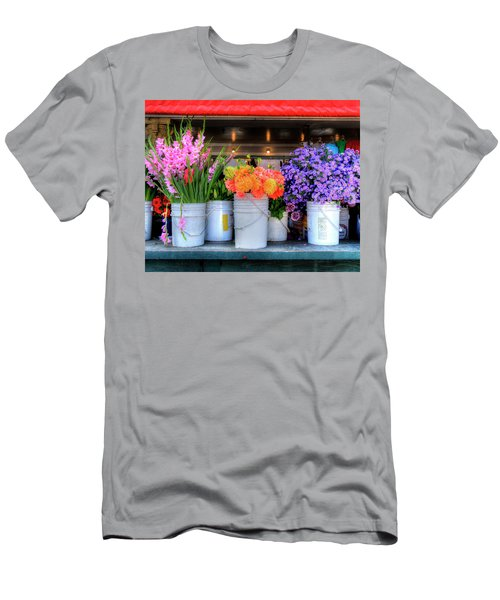 Seattle Flower Market Men's T-Shirt (Athletic Fit)