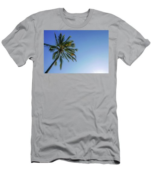 Shades Of Blue And A Palm Tree Men's T-Shirt (Athletic Fit)