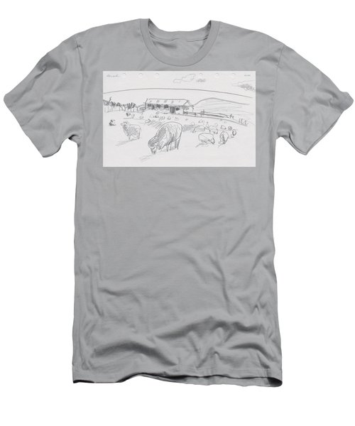 Sheep On Chatham Island, New Zealand Men's T-Shirt (Athletic Fit)