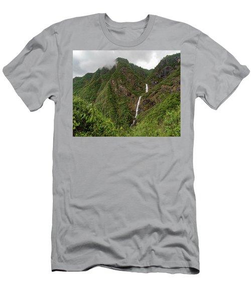Shenlong Waterfall 8x10 Horizontal Men's T-Shirt (Athletic Fit)
