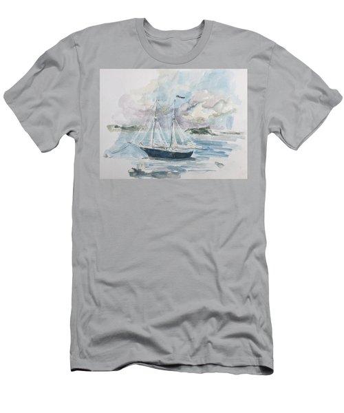 Ship Sketch Men's T-Shirt (Athletic Fit)