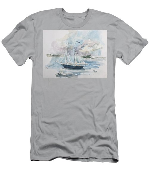 Ship Sketch Men's T-Shirt (Athletic Fit)