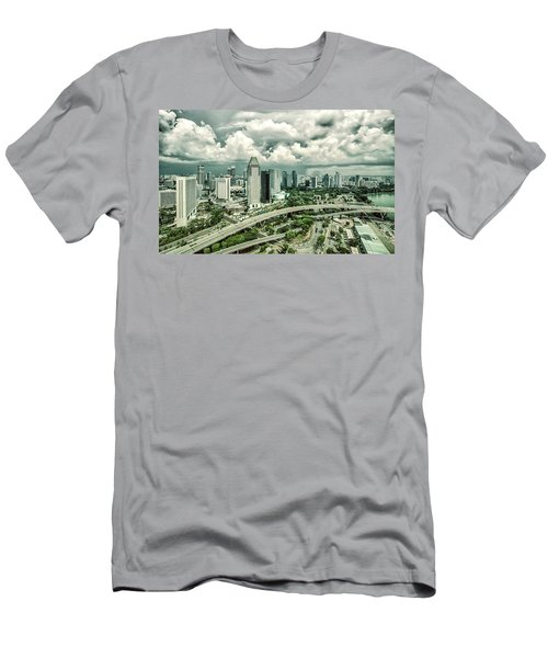 Men's T-Shirt (Athletic Fit) featuring the photograph Singapore by Chris Cousins