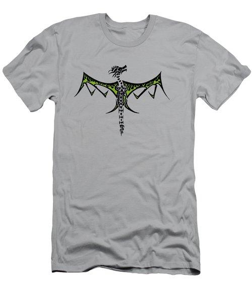 Skeleton Dragon Men's T-Shirt (Athletic Fit)