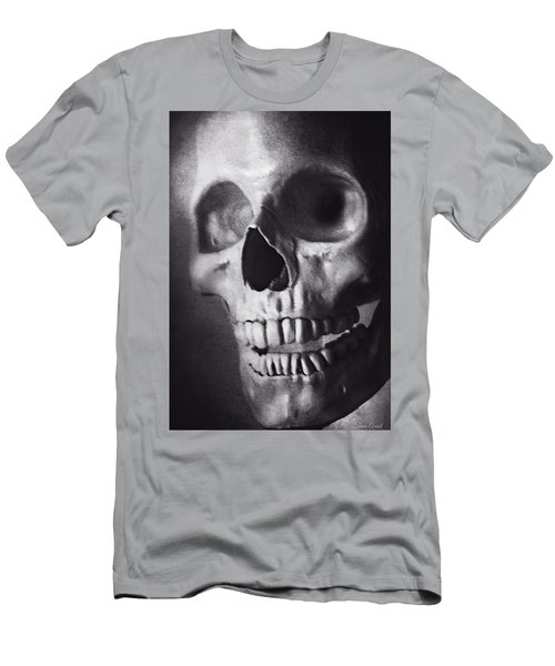 Men's T-Shirt (Athletic Fit) featuring the photograph Skeleton Portrait In Black And White by Trina Ansel